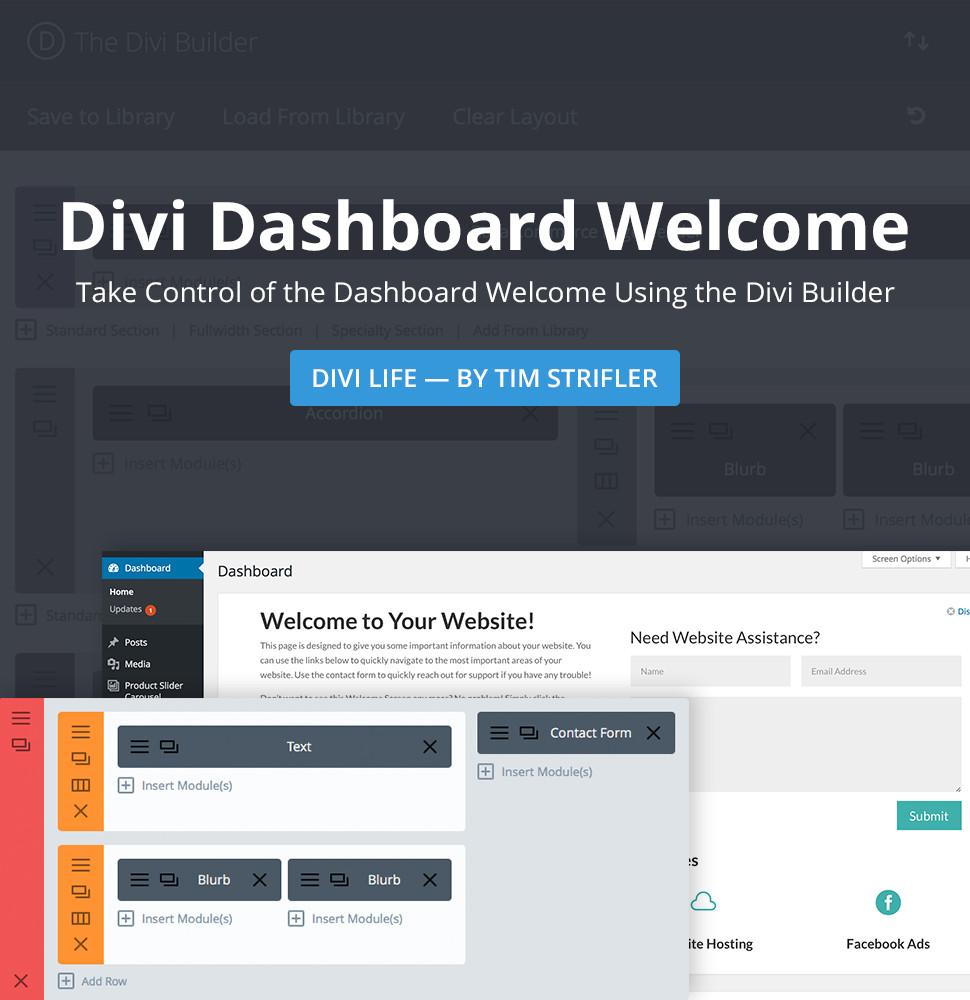 Divi Dashboard Welcome Plugin