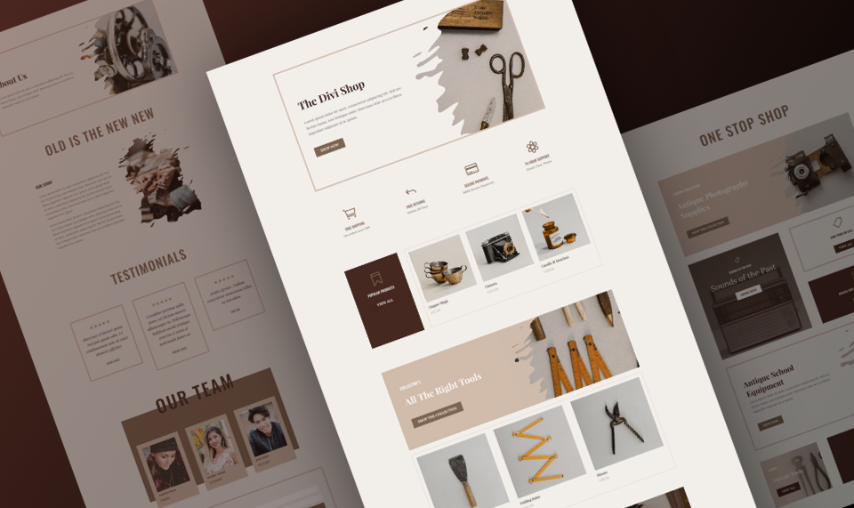 Download Divi Store Layout Pack