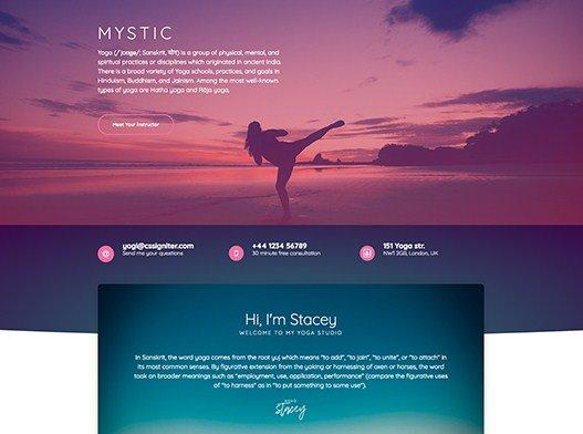 Elementorism Mystic Landing Page