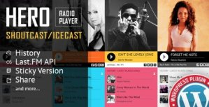 Hero – Shoutcast and Icecast Radio Player With History Plugin