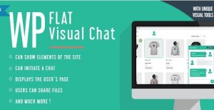 WP Flat Visual Chat – Live Chat & Remote View for WordPress