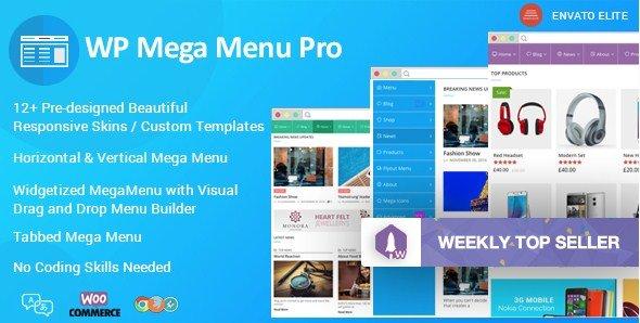 WP Mega Menu Pro – Responsive Mega Menu Plugin for WordPress