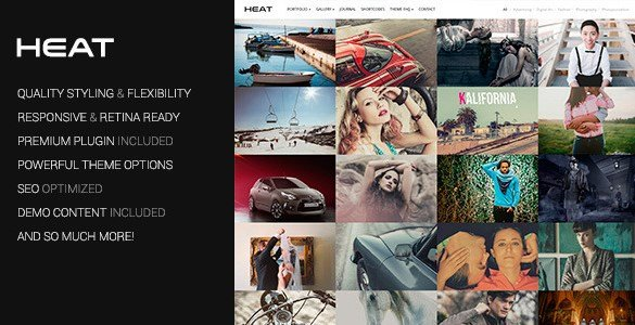 Heat – Portfolio WordPress Theme