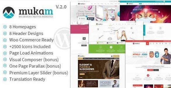 Mukam - Limitless Multipurpose WordPress Theme
