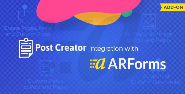 ARForms – Post Creator Addon