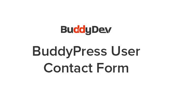 BuddyPress User Contact Form