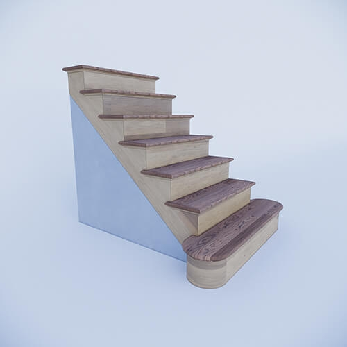 Custom Prefab Stairs At An Affordable Price   Prefab Outdoor Wood Stairs   Closed Stringer   Concrete   Stair Handrail Outdoor   Commercial   Prefab Metal