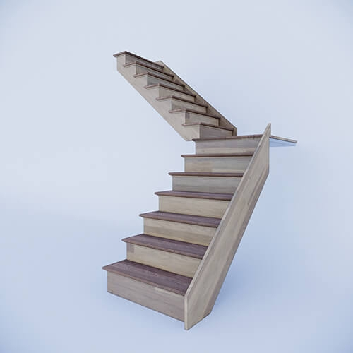 Custom Prefab Stairs At An Affordable Price | Pre Built Wooden Steps | Oak | Exterior | Pre Built | Box | Prefabricated