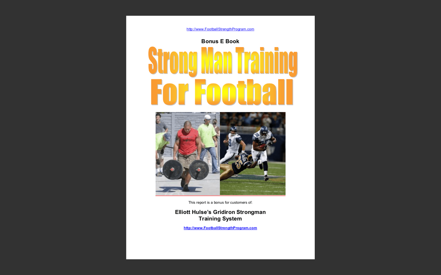 Download strongman training for football