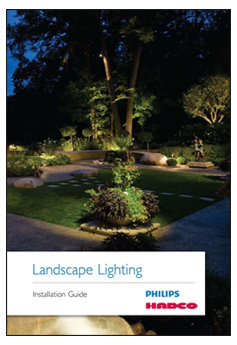 earth stone and water landscape lighting