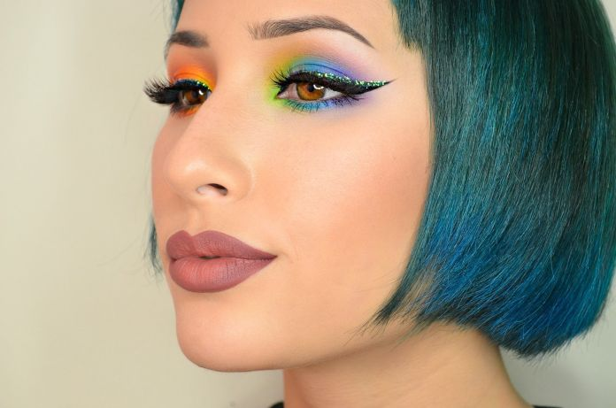 Image result for Mismatched eyeshadow