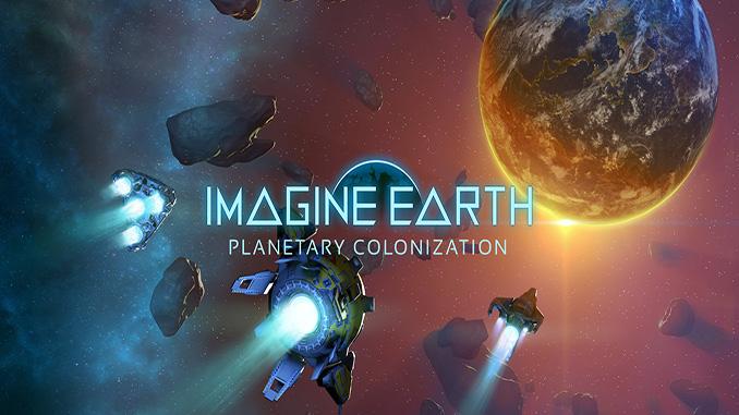 Capa de Imagine Earth com naves a caminho da terra