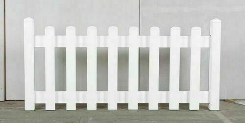 Cloture Plaine En Pvc Kit Prete A Poser Coloris Blanc Gedimat Fr