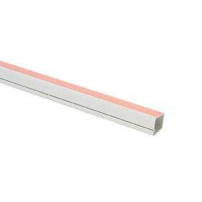 Moulure Cache Fil Electrique Adhesive Larg 12mm Ep 12mm Long 2m Coloris Blanc Gedimat Fr