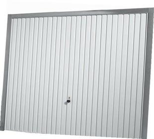 Porte De Garage Basculante 114 Metallique Haut 2 00m Long 2 375m Coloris Blanc Ral9016 Gedimat