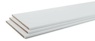 Tablette Melaminee Confort Ep 18mm Larg 30cm Long 2 50m Blanc Gedimat Fr