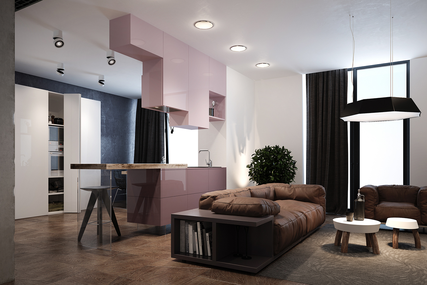 Minimalistic Interior With A Blend Of Different Textures And Colors