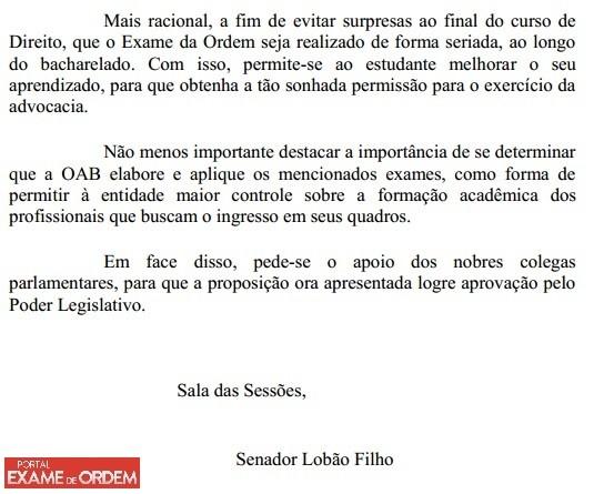 Projeto de Lei visa transformar o Exame de Ordem em avaliao seriada ainda durante a faculdade