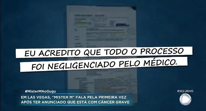 Screenshot 409 - Mister M pede ajuda para tratar câncer, mas não apresenta exames