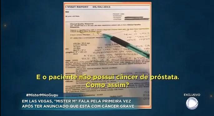 Screenshot 4114 - Mister M pede ajuda para tratar câncer, mas não apresenta exames