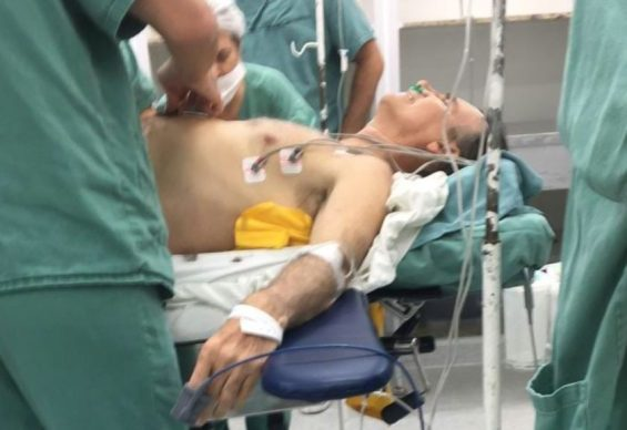 Resultado de imagem para bolsonaro cirurgia