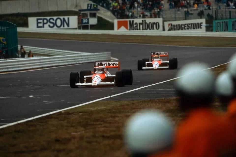 Ayrton Senna em imagem do GP do Japão de 1988