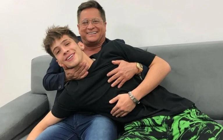 Leonardo e o filho João Guilherme