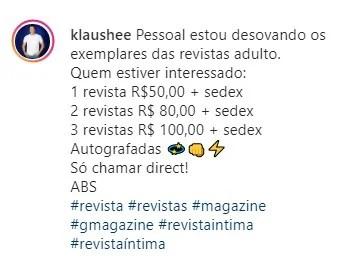 Ex-Dominó coloca revistas adultas à venda