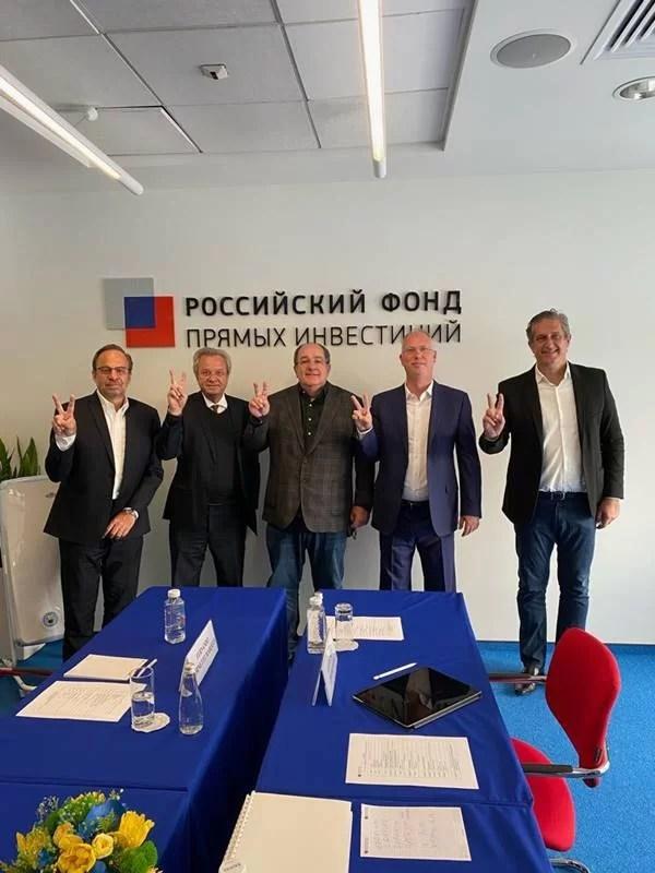 Representantes da União Química se encontram com Fundo de Investimento Direto Russo (RDIF), em Moscou