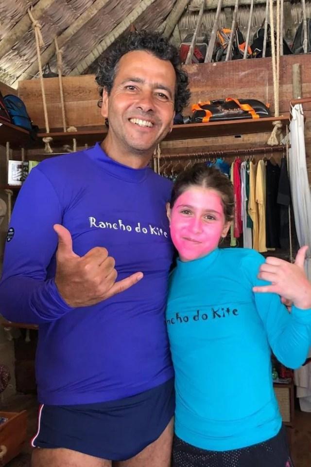 Marcos Palmeira e a filha Júlia