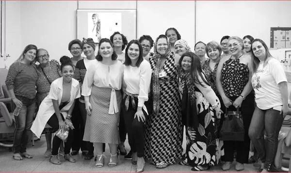Acao de outubro de 2019 no HRT, com participação do projeto Moda Cura