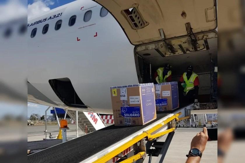 Vaccine batches on plane
