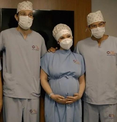 Virginia antes de entrar para sala de parto