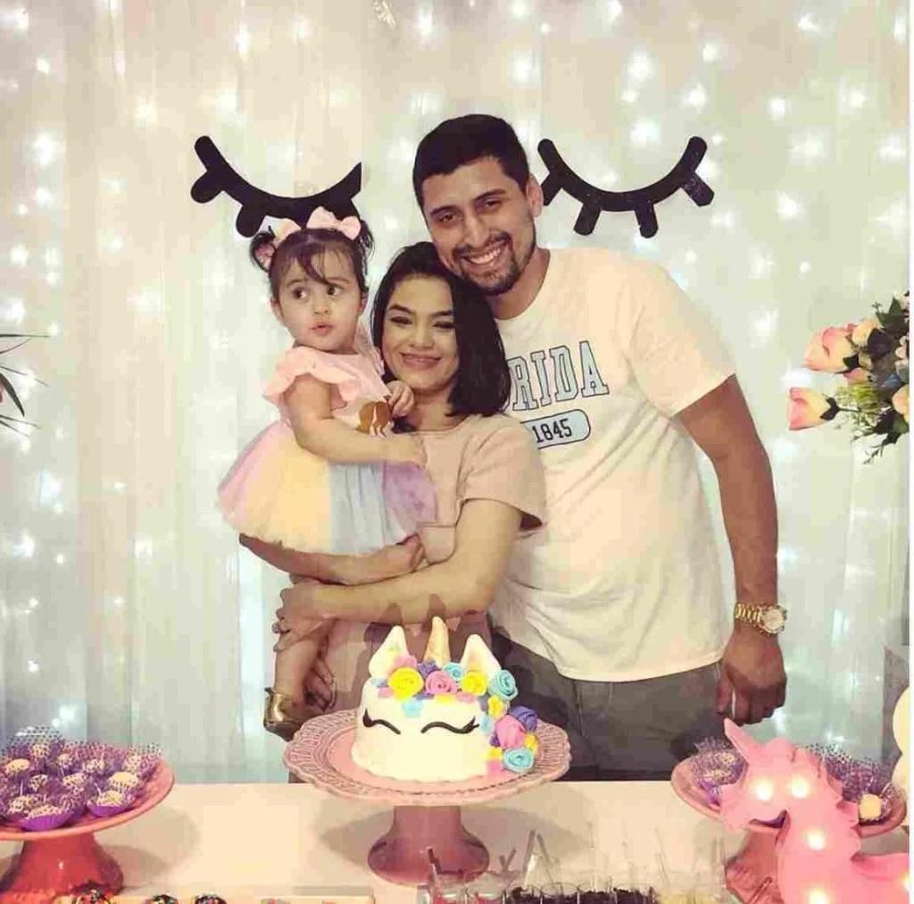 Kiara, a filha Maitê e o marido Natan