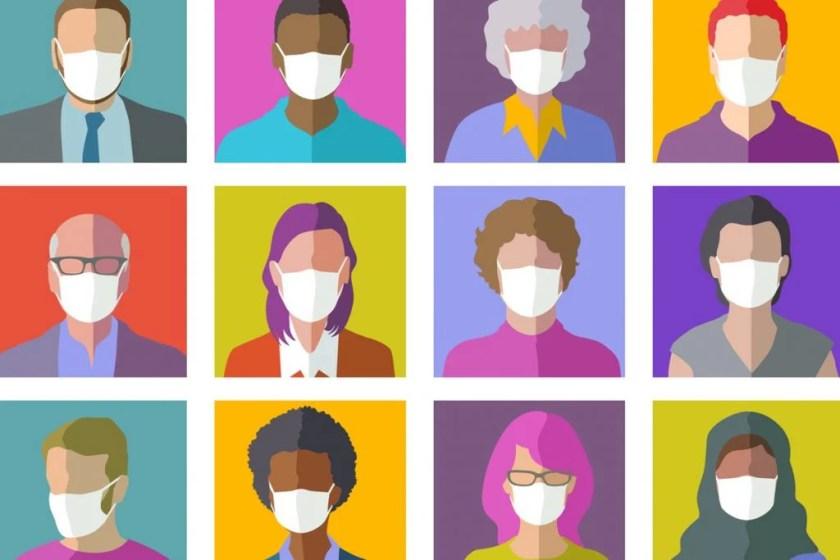 mask people illustration