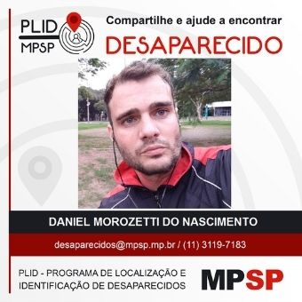 Poster released by the SP police about the disappearance of Morozetti