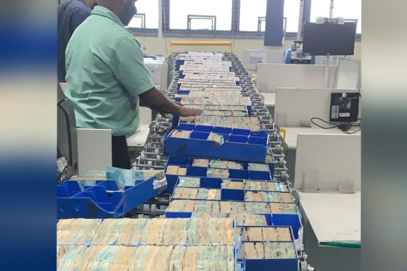 Money seized by the Federal Police in the Kryptos operation in Rio de Janeiro