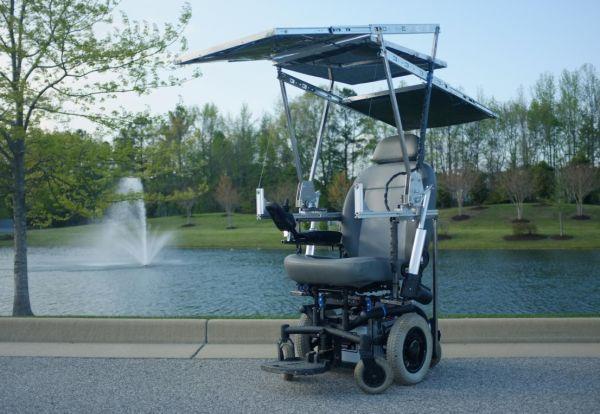 Solar powered wheelchair