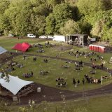 Here's what one of the first outdoor gigs to take place in Northern Ireland looked like