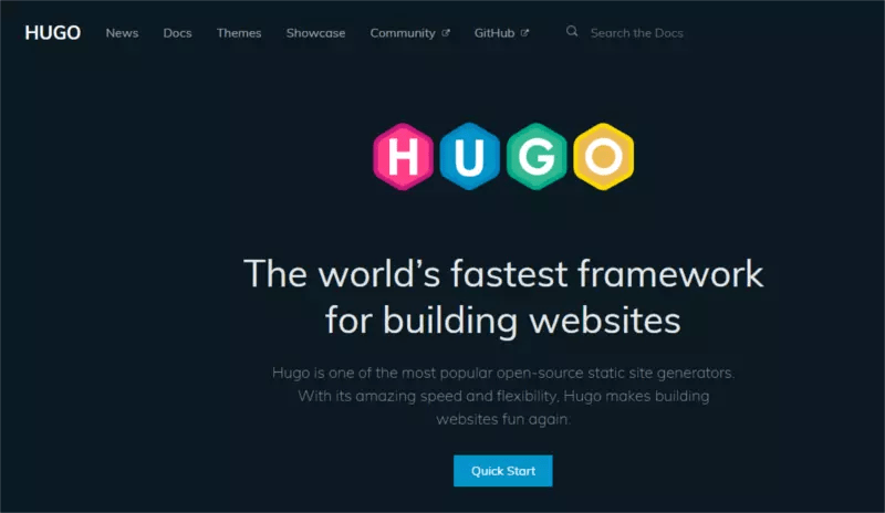 Hugo - static-site generators