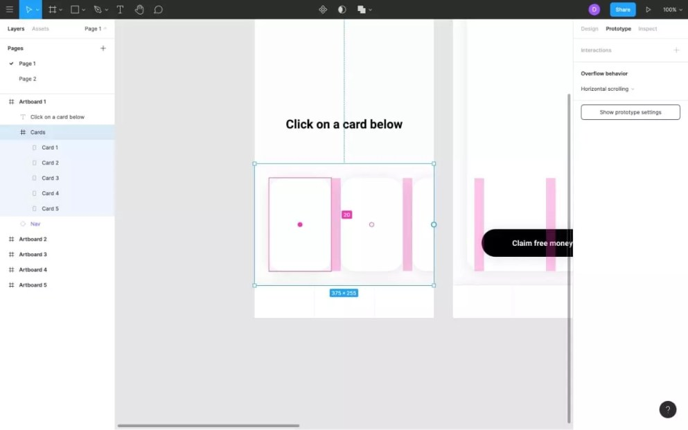 Adjusting the spacing in Figma Frames