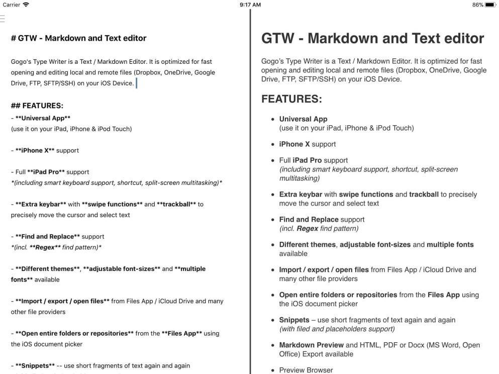 Screenshot of GTW