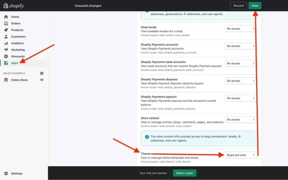 Create a private Shopify app
