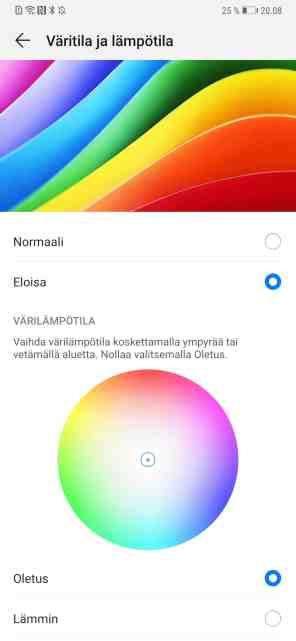 Näytön väritila