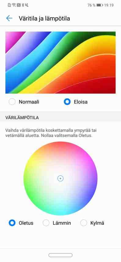 Väriasetuksia