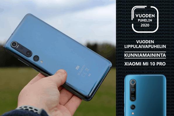 Xiaomi Mi 10 Pro / 3. sija kategoriassa vuoden lippulaivapuhelin