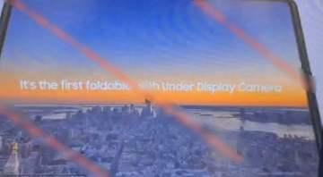 Galaxy Z Fold 3 näytönalainen etukamera