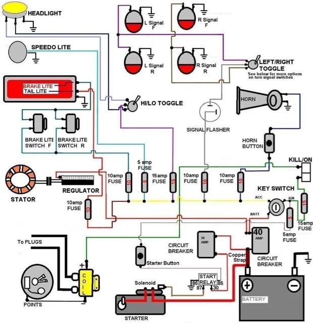 simple wiring diagram for my 87 aporty chopper  the