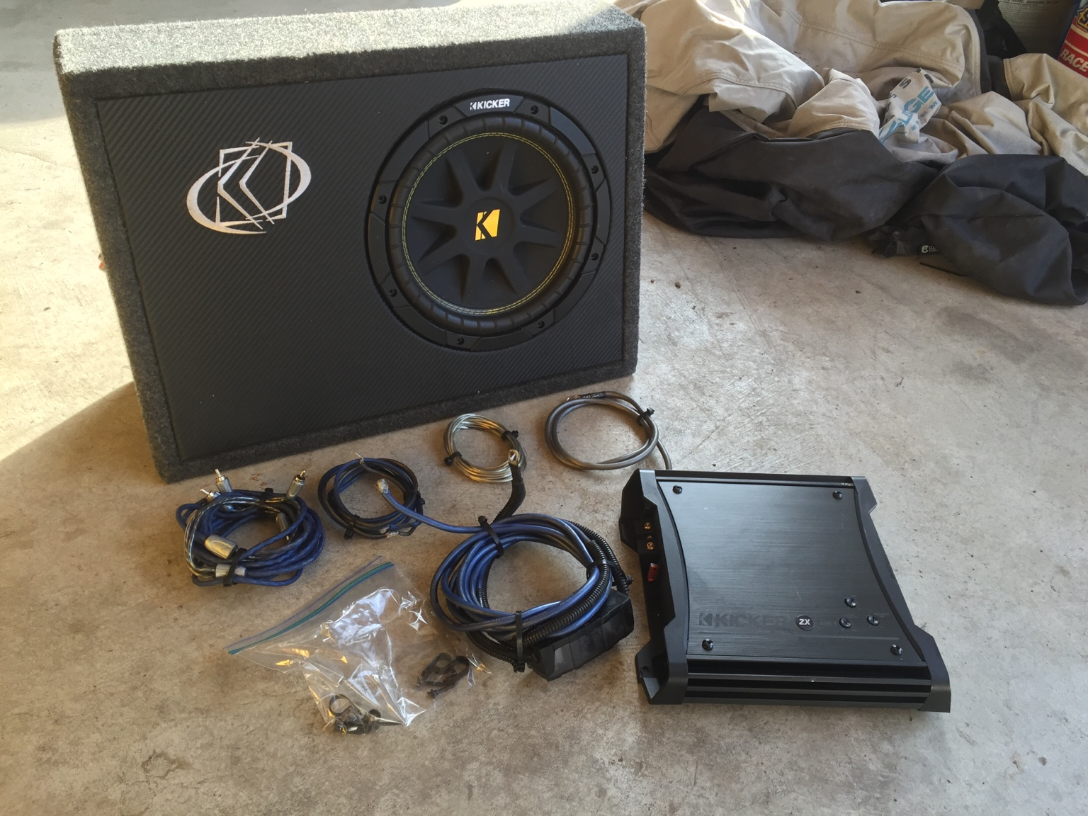 Kicker Sub, Kicker Amp, Kicker Wiring Kit