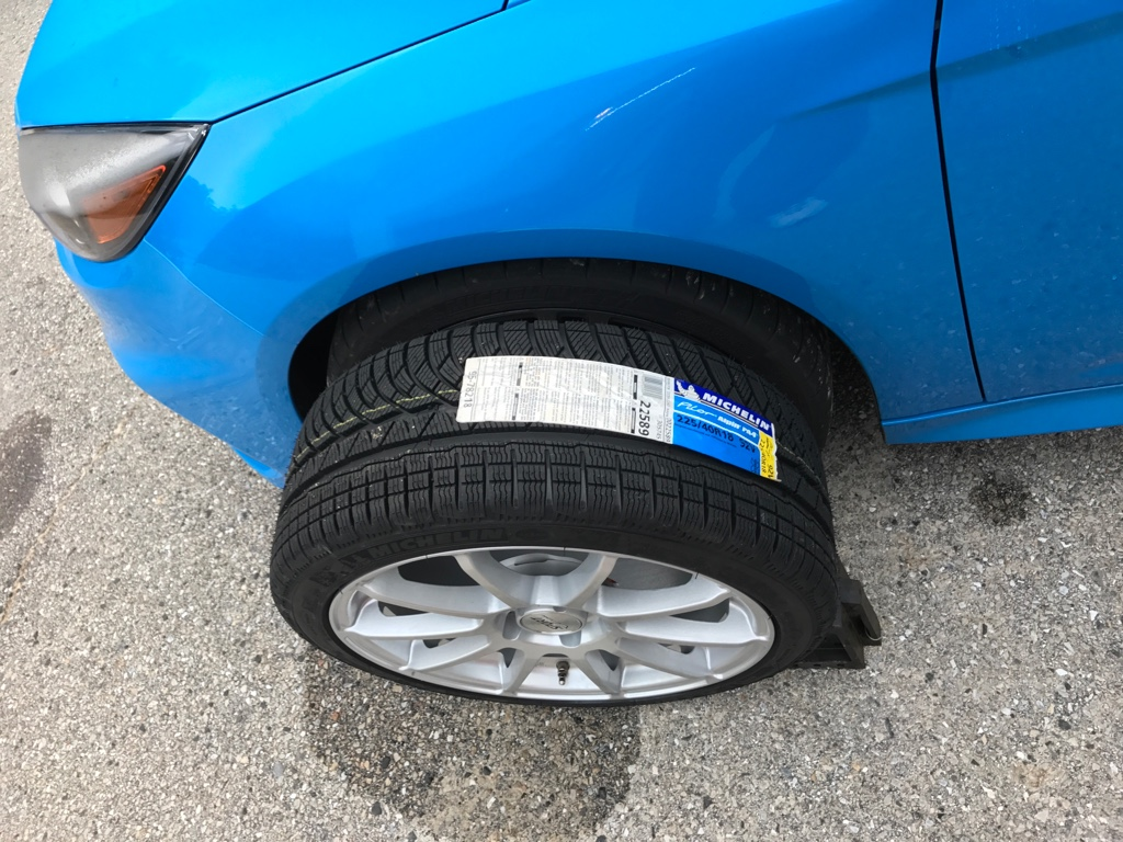 winter wheel and tire set ford focus